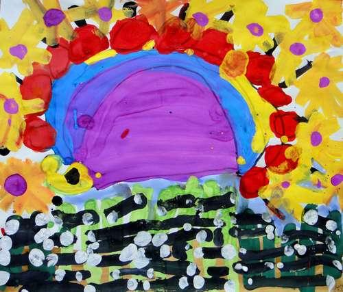 刺猬-水彩画图集