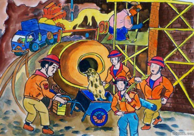 劳动-水彩画图集