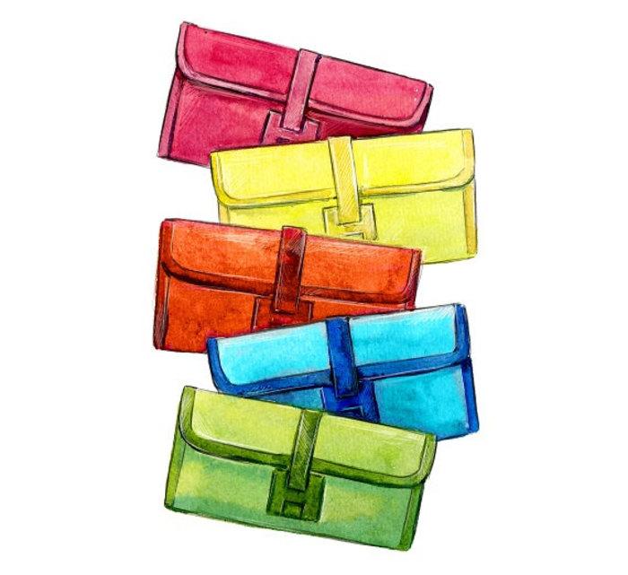 包包-水彩画图集6