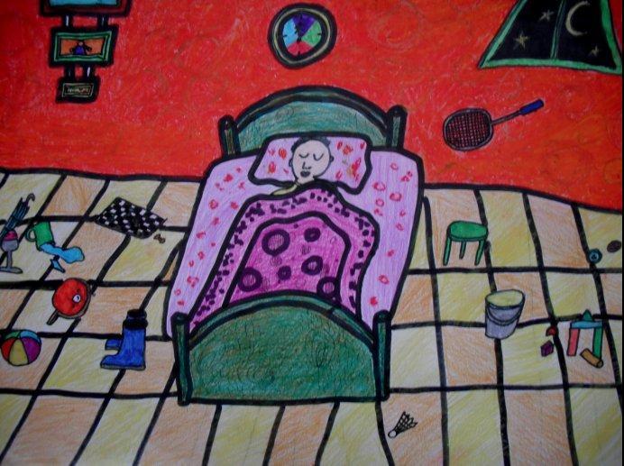卧室-水彩画图集