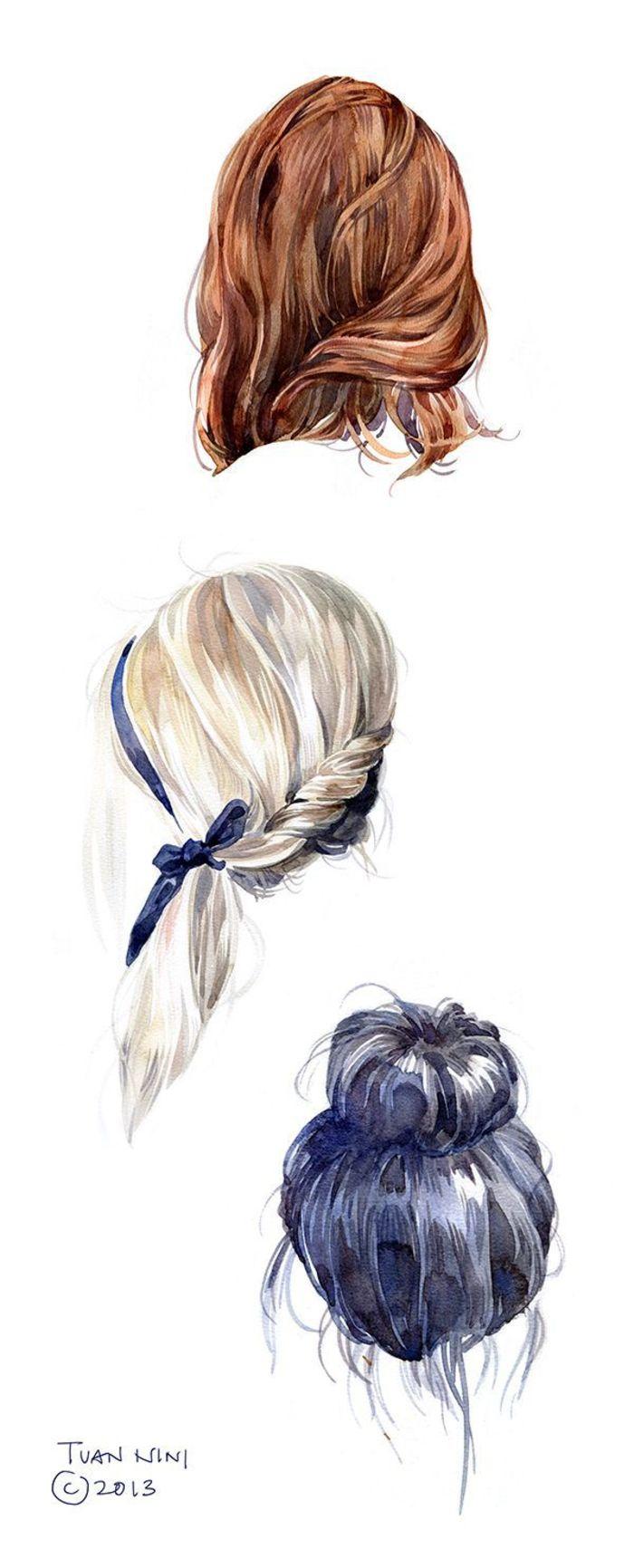 发型-水彩画图集