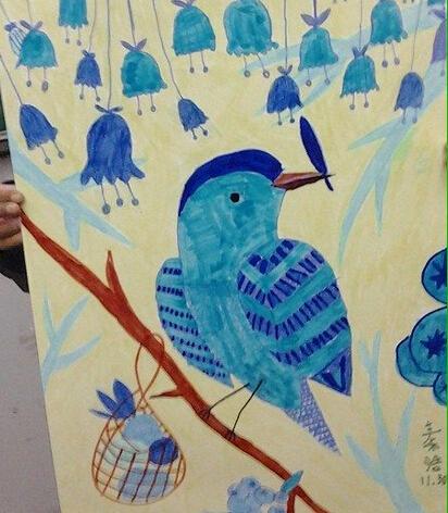 可爱的鹦鹉-水彩画图集