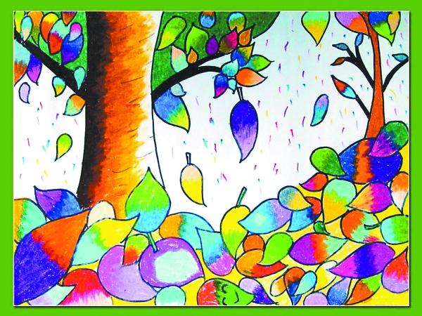 叶子-水彩画图集图片
