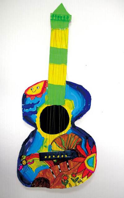 吉他-水彩画图集