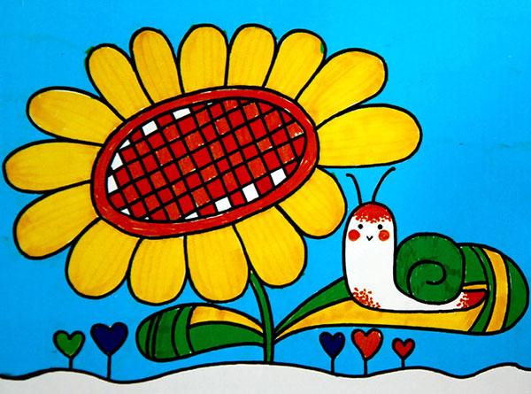 向日葵-水彩画图集图片