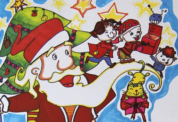 圣诞节-水彩画图集