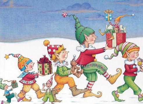 圣诞节-水彩画图集图片_儿童水彩画_少儿图库_中国