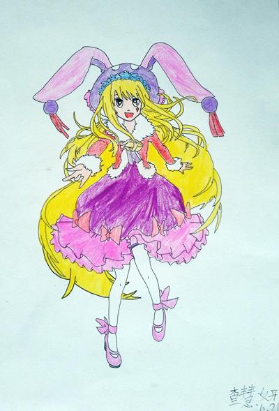 女孩-水彩画图集