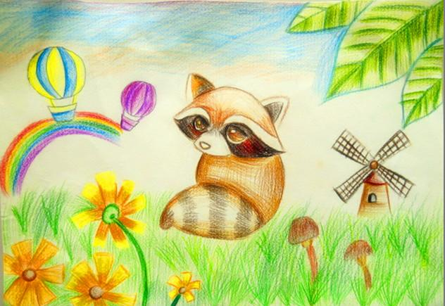 小松鼠-水彩画图集