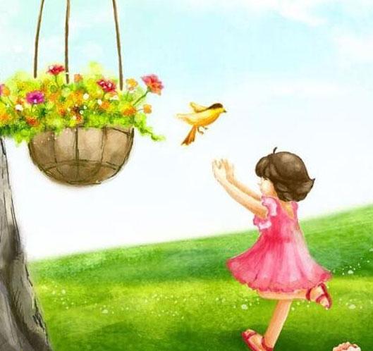 小鸟-水彩画图集