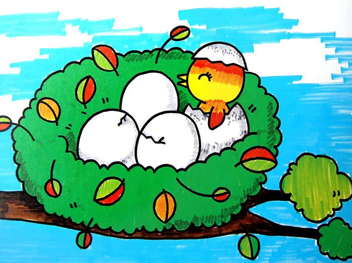 小鸟-水彩画图集图片_儿童水彩画_少儿图库_中国儿童