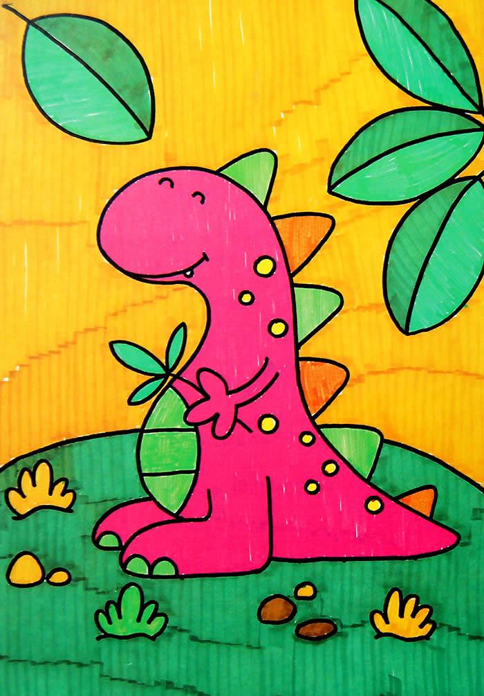 恐龙-水彩画图集