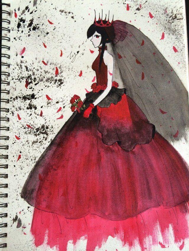 新娘-水彩画图集