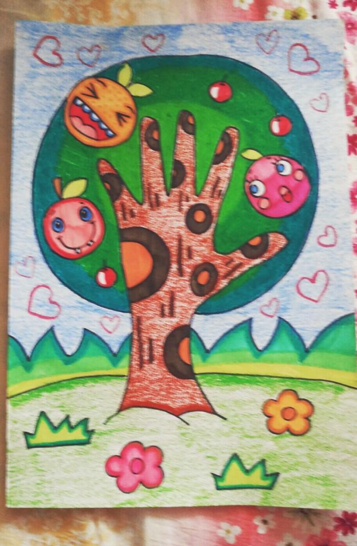 中国简笔画网_树-水彩画图集图片_儿童水彩画_少儿图库_中国儿童资源网