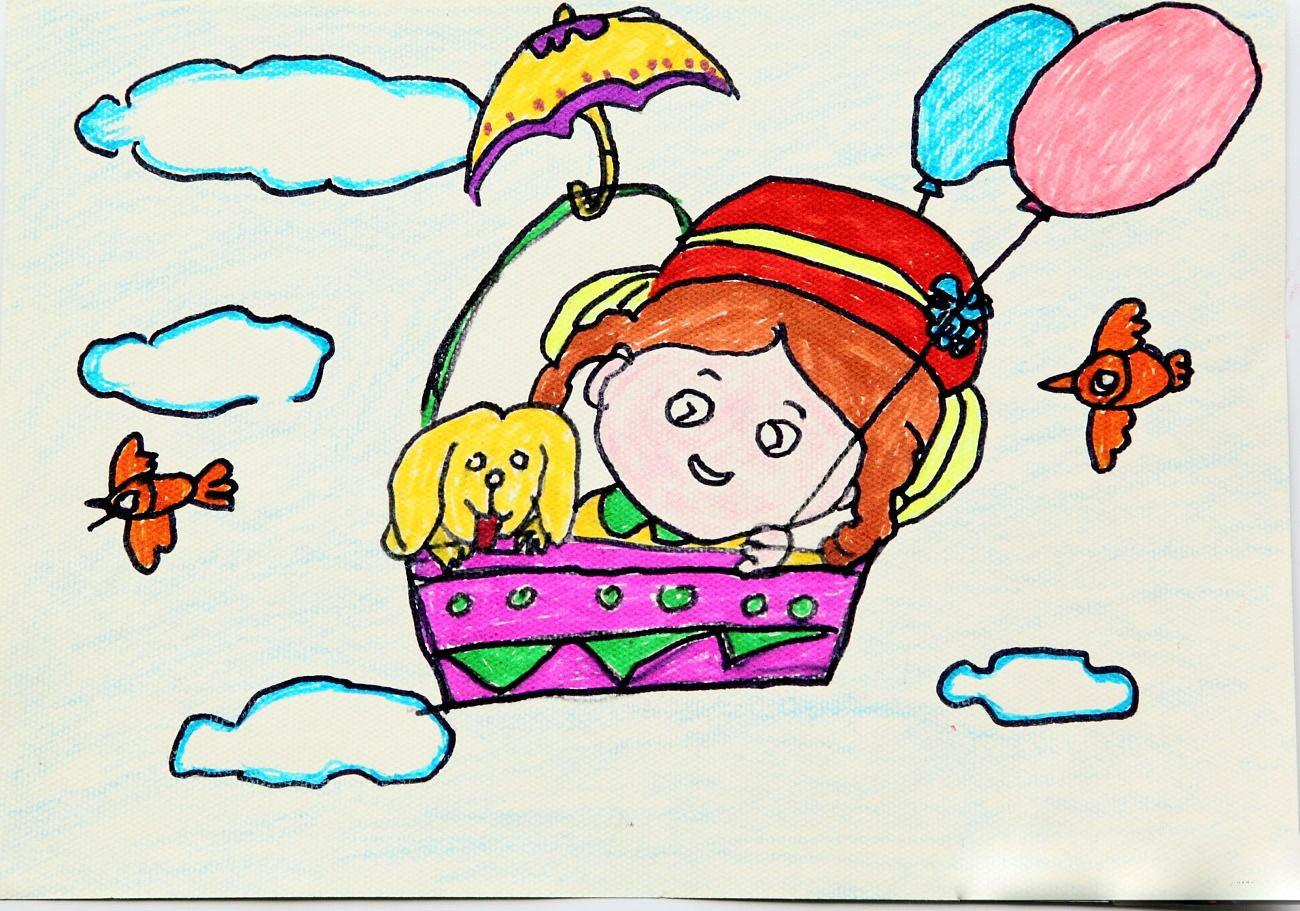 热气球-水彩画图集