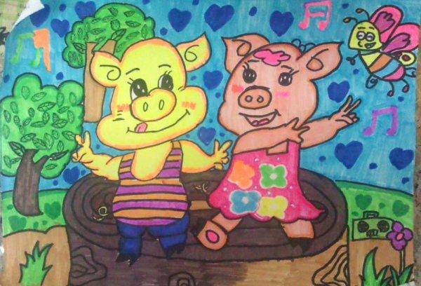 猪-水彩画图集