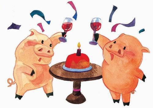 猪-水彩画图集图片