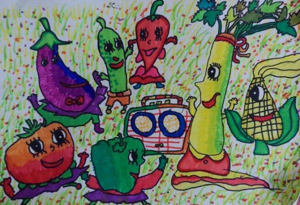 蔬菜大联欢-水彩画图集