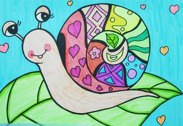 蜗牛创意儿童画图片大全