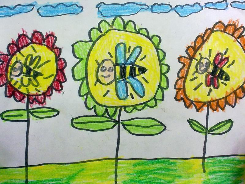 蜜蜂-水彩画图集图片_儿童水彩画_少儿图库_中国儿童图片