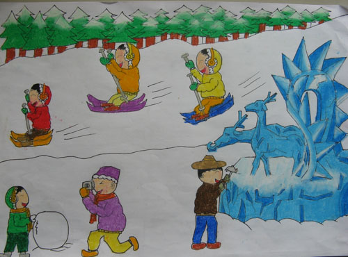 雪人-水彩画图集