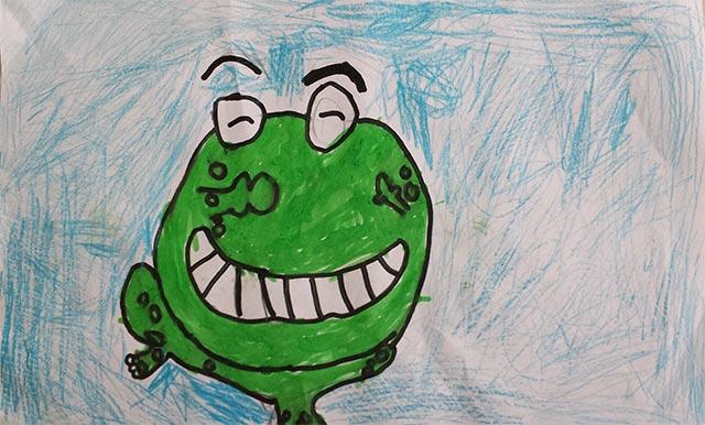 青蛙-水彩画图集