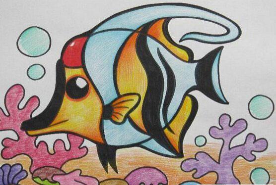 鱼-水彩画图集图片