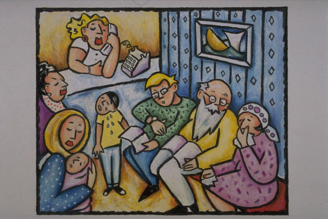 一家人-蜡笔画图集4