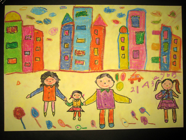 一家人-蜡笔画图集6