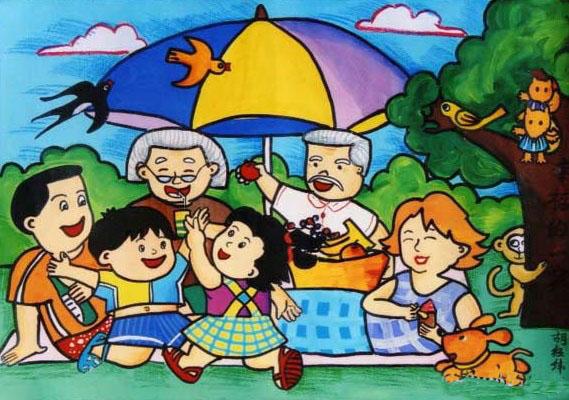 一家人-蜡笔画图集8