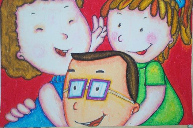 一家人-蜡笔画图集9
