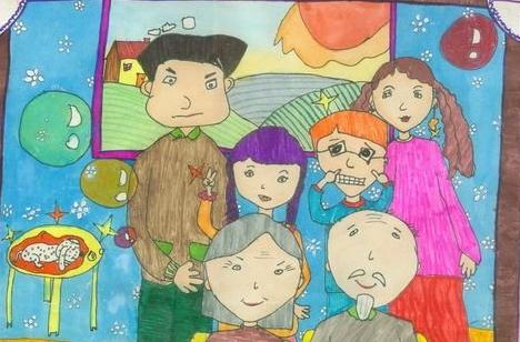 一家人-蜡笔画图集11