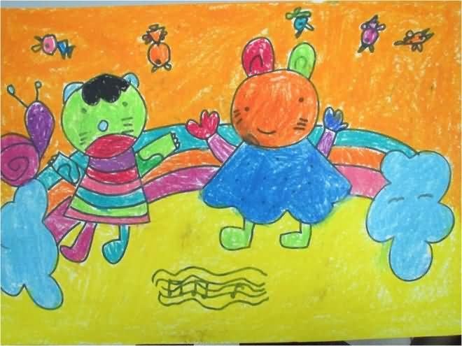 一家人-蜡笔画图集12