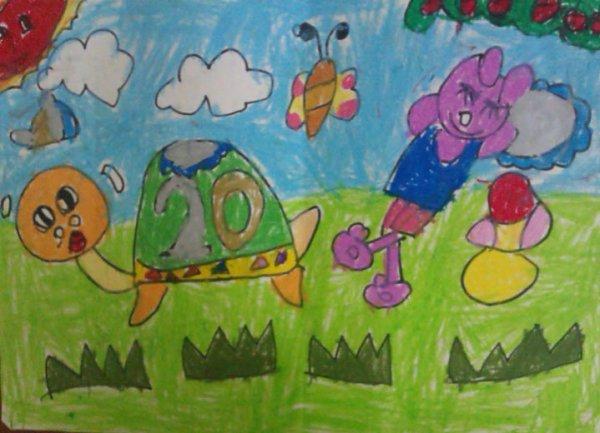 乌龟-蜡笔画图集2