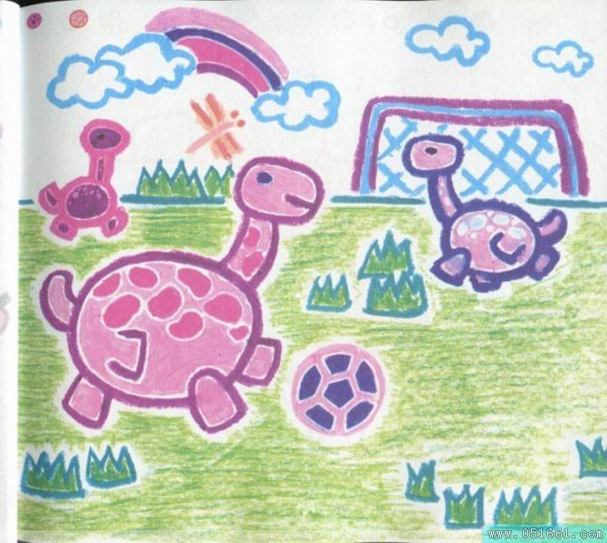 乌龟-蜡笔画图集4