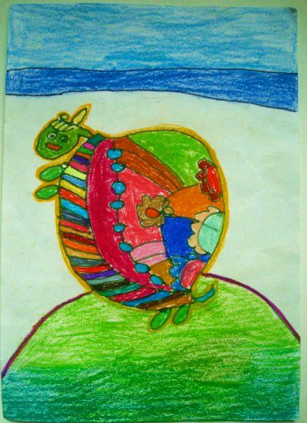 乌龟-蜡笔画图集7