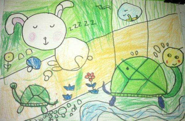 乌龟-蜡笔画图集11