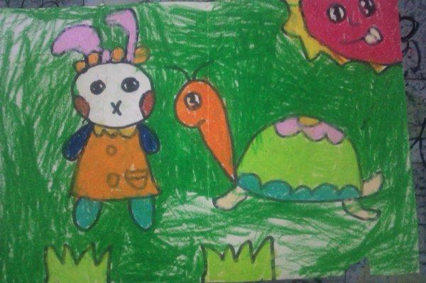乌龟-蜡笔画图集12