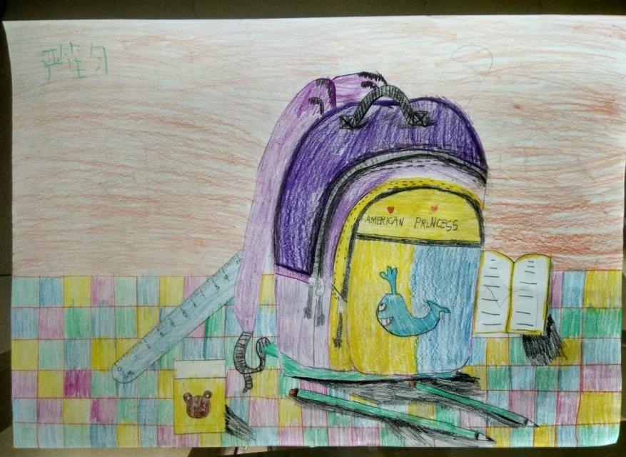 书包-蜡笔画图集2