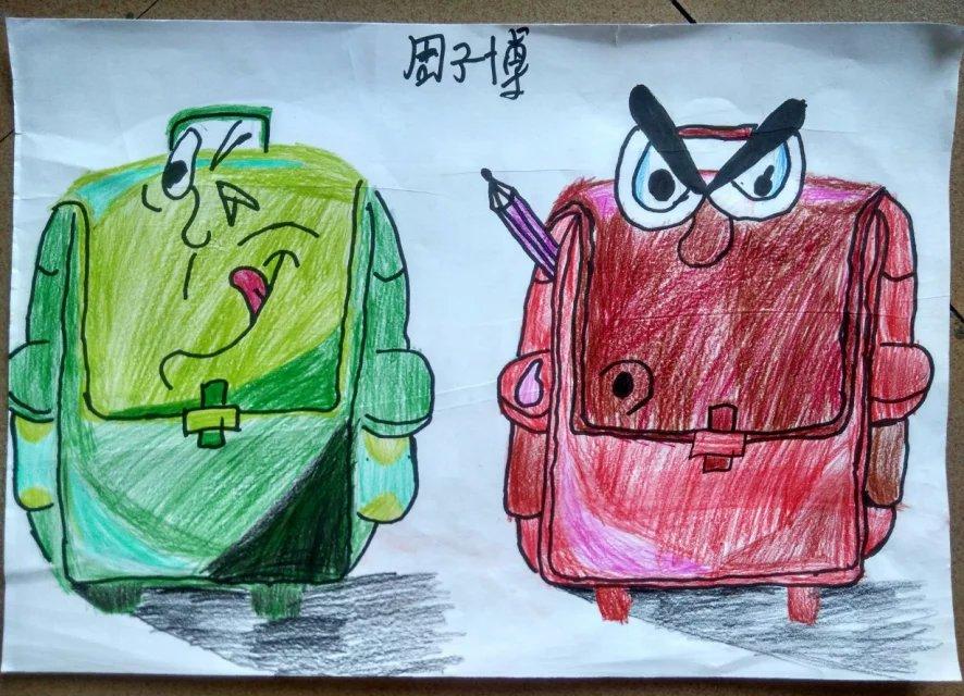 书包-蜡笔画图集3