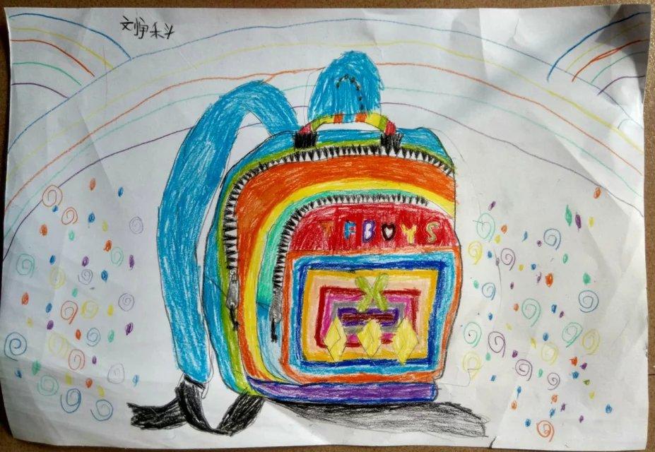 书包-蜡笔画图集4