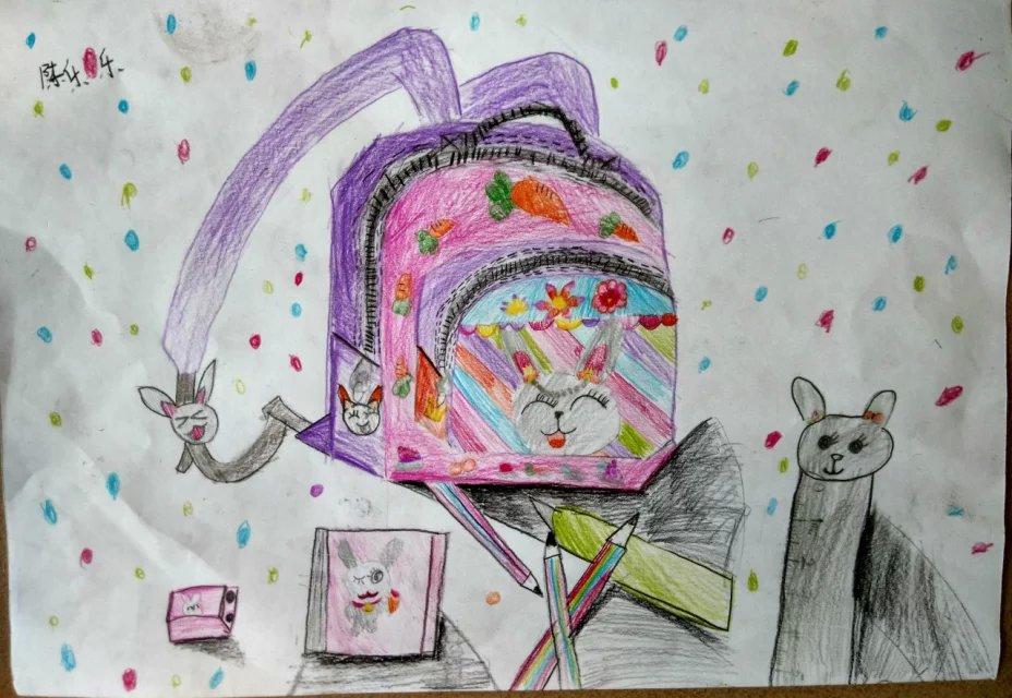 书包-蜡笔画图集5