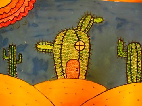 仙人掌-蜡笔画图集2