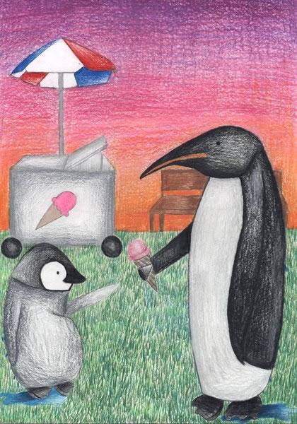 企鹅-蜡笔画图集5