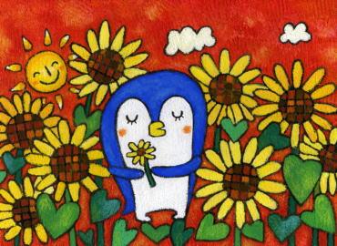 企鹅-蜡笔画图集6
