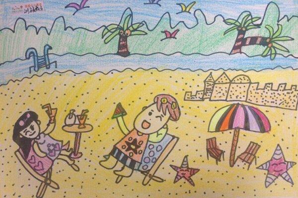 假期-蜡笔画图集7