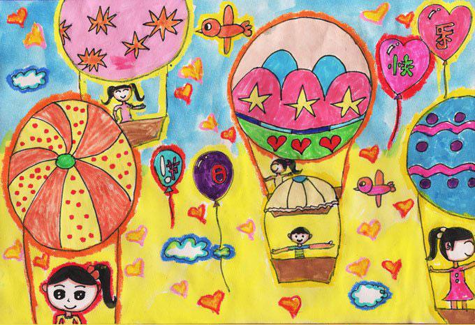 儿童节-蜡笔画图集