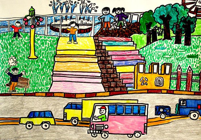 儿童节-蜡笔画图集2