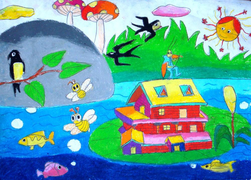 儿童节-蜡笔画图集4