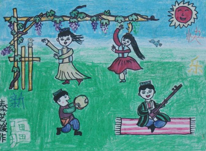 儿童节-蜡笔画图集8